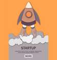 startup business concept with rocket launch of web vector image