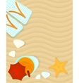 Summer banner vector image