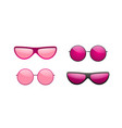 sunglasses round icon pink sun glasses isolated vector image