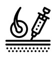 syringe injection icon outline vector image
