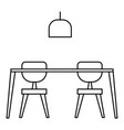 table and chairs icon outline style vector image vector image