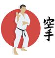 The man shows karate an vector image