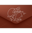 Valentines envelope coffee