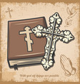 vintage religious template vector image