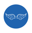 wings icon image vector image