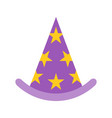 wizard hat halloween related icon flat design vector image vector image