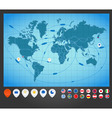 World map charts vector | Price: 1 Credit (USD $1)