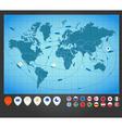 World Map Charts vector image vector image