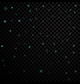 light stars on black background vector image