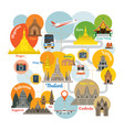 southeast asia travel infographic vector image