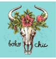 Boho style print for T-shirt vector image