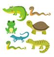 Set of creeping things Wild animals vector image