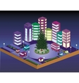 3D Christmas city vector image