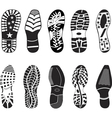 a collection various highly detailed shoe track vector image