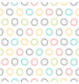 Abstract seamless pattern with hand drawn circles vector image vector image