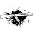 ak-47 bullets and blood vector image