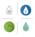 aromatherapy oil drop icon vector image vector image