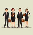 background of a business team vector image vector image