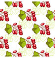 barberry seamless pattern vector image