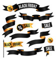 black friday ribbons vector image vector image