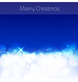 Blue Christmas abstract background vector image
