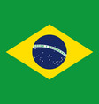 brazil flag icon in flat style national sign vector image vector image