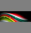bright colorful liquid fluid lines on black vector image