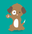 brown dog paw out 03 vector image vector image