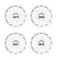 calendar 2019 2020 2021 and 2022 calendar vector image