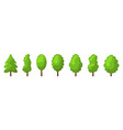 cartoon summer tree set vector image vector image