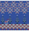 Christmas Sweater Pattern 12 vector image