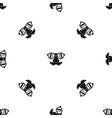 clown face pattern seamless black vector image vector image