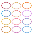 Colorful set of oval vintage frames vector