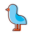 cute bird sea icon vector image vector image