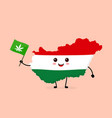 cute funny smiling happy hungary vector image vector image