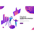 digital marketing strategy landing webpage with vector image