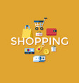 digital yellow shopping sale vector image vector image