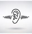 ear listens icon vector image vector image