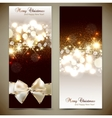 Elegant greeting cards with bows and copy space vector image vector image