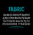 fabric font 001 vector image vector image