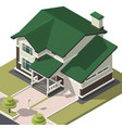 family house isometry hyper detailing isometric vector image