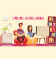 family online courses vector image