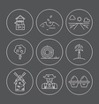 Farm Line Icons vector image vector image