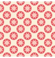 Floral seamless pattern Red and white shabby vector image vector image