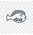 flounder concept linear icon isolated on vector image