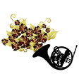 french horn instrument vector image