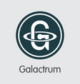 galactrum - blockchain cryptocurrency icon vector image vector image