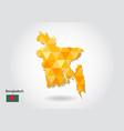 geometric polygonal style map of bangladesh low vector image