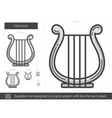 Harp line icon vector image vector image