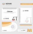 justice logo calendar template cd cover diary and vector image vector image